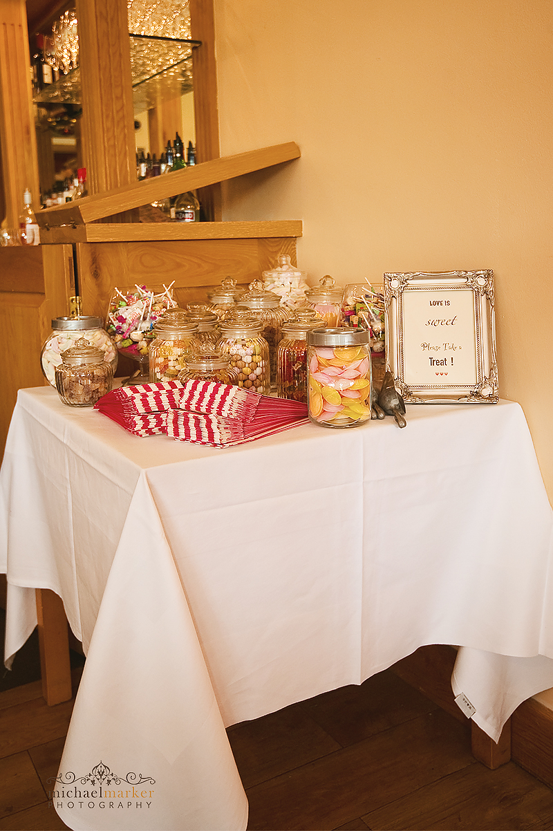 Devon wedding sweet table