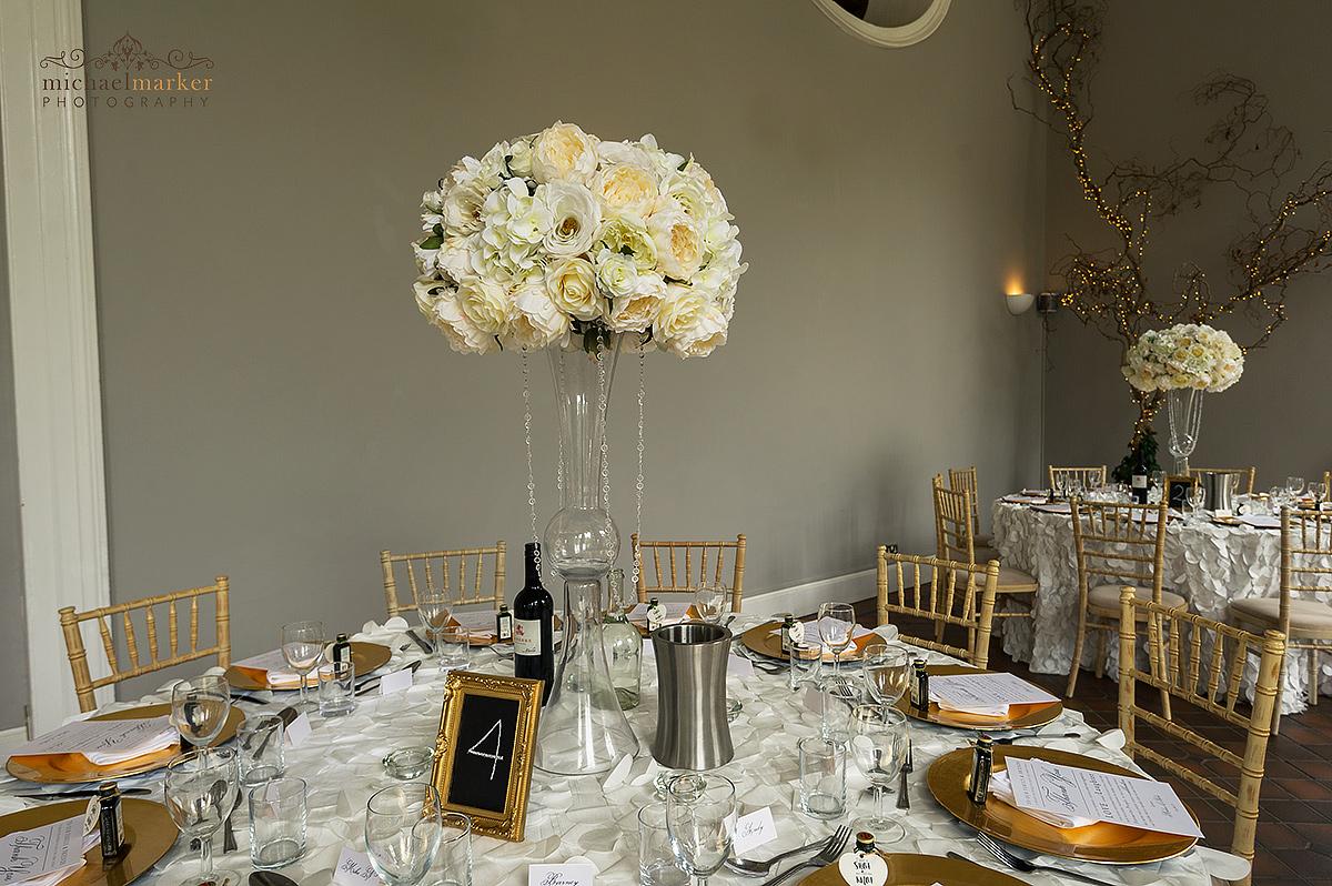 Cornish Wedding Reception Table Decor Devon Wedding Photography