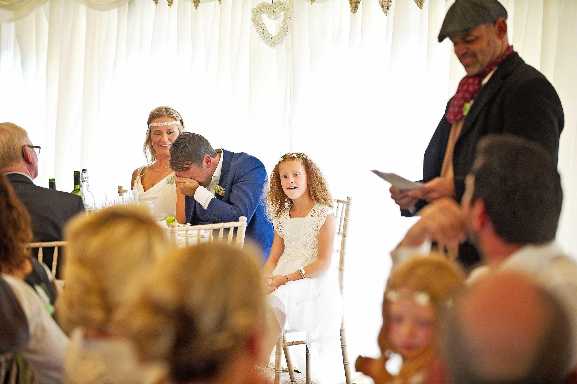 Wedding day bestman speech humiliated groom at Devon wedding