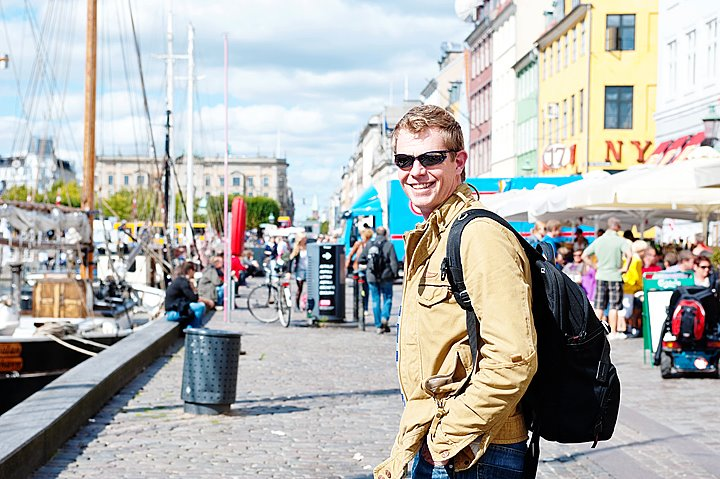 Destination wedding photographer michael Marker smiling in Copenhagen