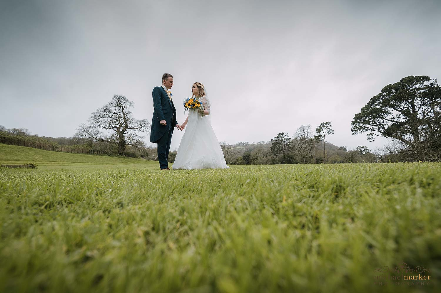 Beautiful couple in grounds of St elizabeth's House plympton