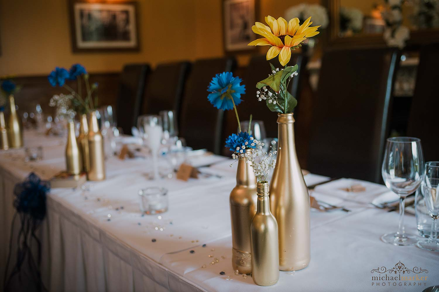 gold-blue-and-yellow-wedding-decoration-theme - Devon Wedding ...