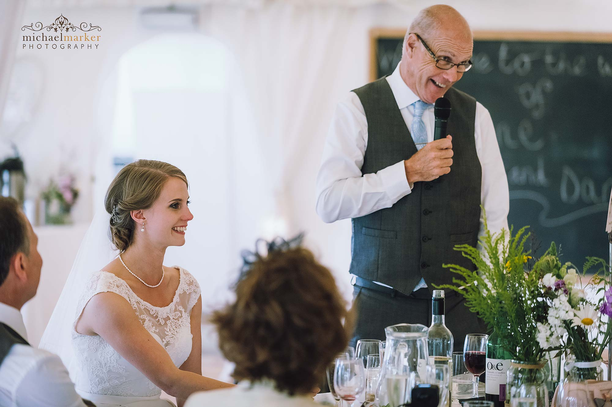 Father of the bride speech at Devon wedding venue near Plymouth Shilstone House.