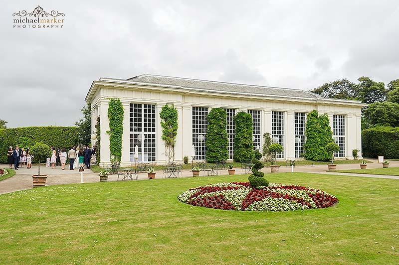 Mount Edgcumbe Orangery during a wedding reception