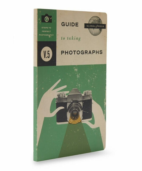 Cover photograph of notebook with guide to taking photographs cover
