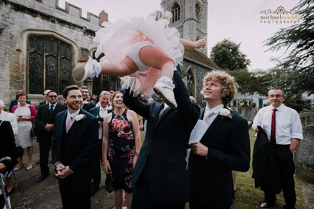 real church wedding moment at Henley