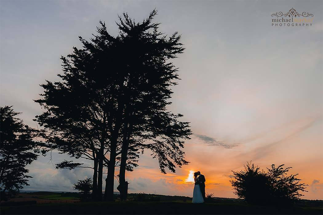 sunset-wedding-silhouette-near-Exeter