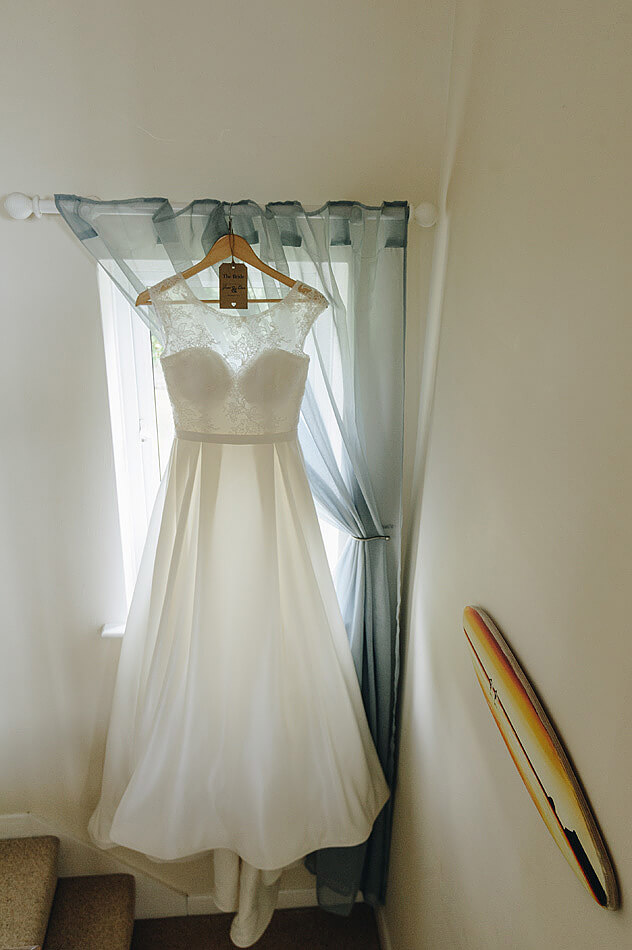 beautiful brides wedding dress in Devon