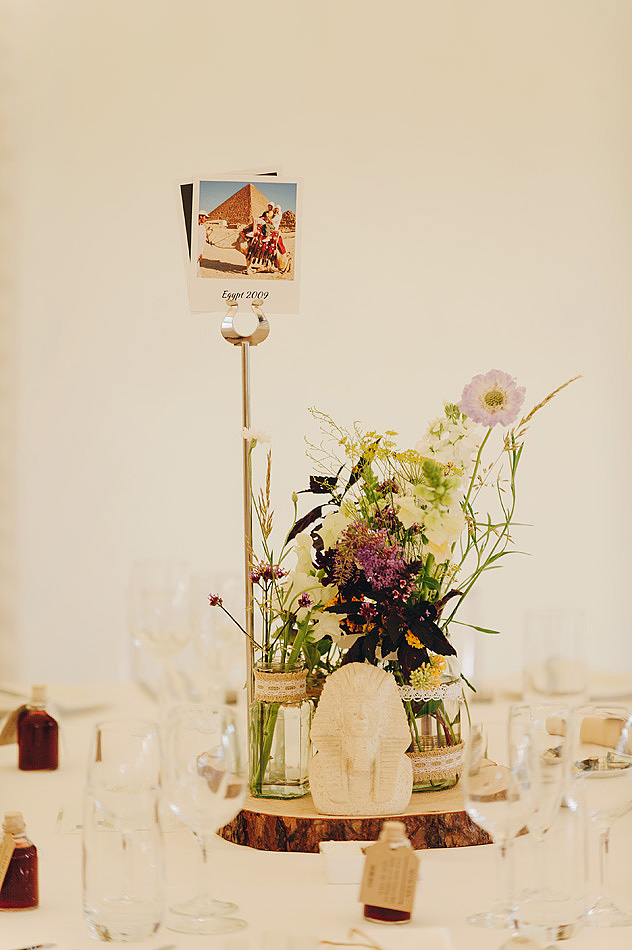 chic floral wedding table centres at Shilstone House wedding venue in devon