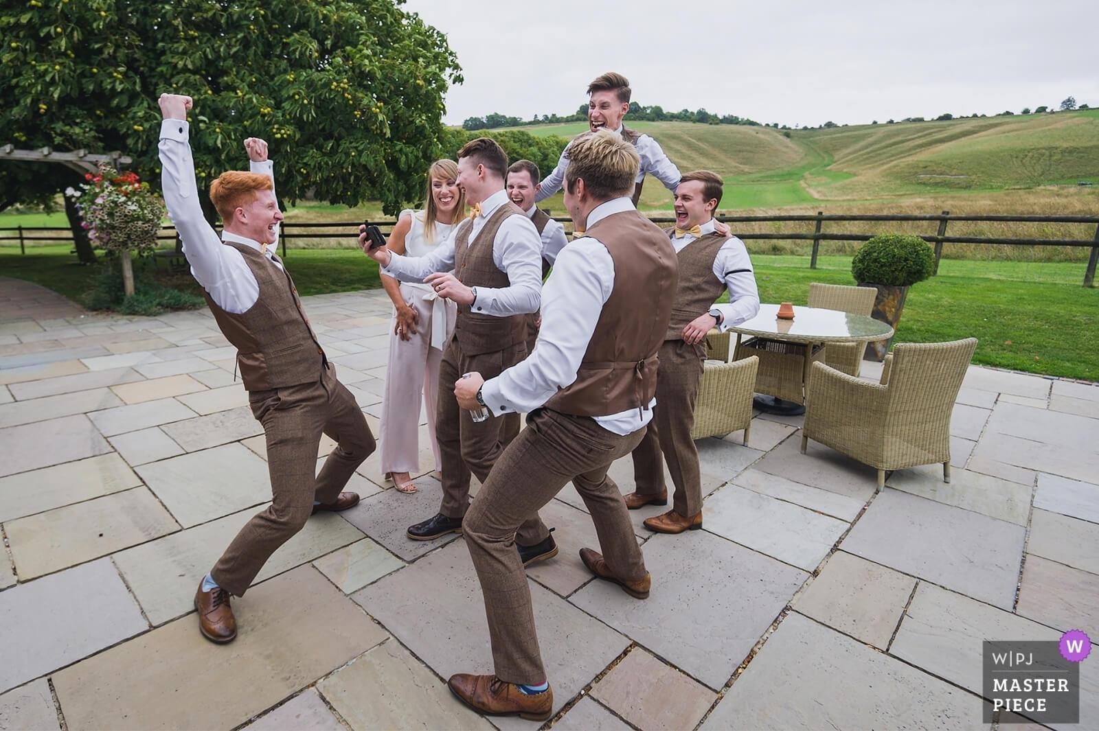 Wedding guests celebrating won a WPJA wedding  photography award
